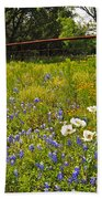 Fenceline Wildflowers Bath Towel