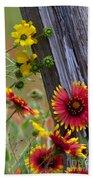 Fenceline Wildflowers Bath Towel