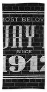 Fenway Park Boston Ma 1912 Sign Bath Towel