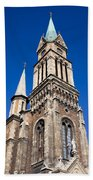 Ferencvaros Church Tower In Budapest Bath Towel