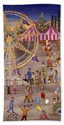 Ferris Wheel At The Carnival Bath Towel