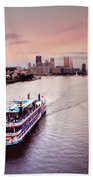 Ferry Boat At The Point In Pittsburgh Pa Bath Towel