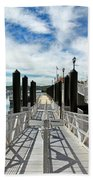 Ferry Dock Bath Towel
