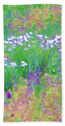 Field Of Flowers In Nature Bath Towel