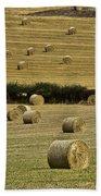 Field Of Hay Bales Bath Towel
