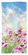 Field Of Poppies Stillliefe Bath Towel