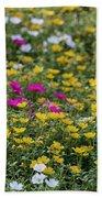 Field Of Pretty Flowers Bath Towel
