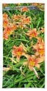 Field Of Tiger Lilies Bath Towel
