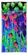 Field Of Tulips - Photopower 1496 Bath Towel