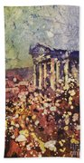 Fields Of Flower- And Roman Temple Bath Towel