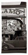 Film Homage Bela Lugosi Shadow Of Chinatown 1936 John Vachon Fsa Alamo Theater Washington D.c. 2010 Bath Towel
