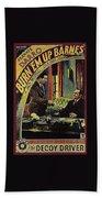 Film Homage Burn 'em Up Barns Mascot Serial 1934 Chapter 5 Lobby Card Color Added 2008 Bath Towel