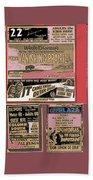 Film Homage Collage Drive-in Ads 1953 Tucson Arizona 2008 Bath Towel