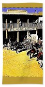 Film Homage Extras Unknown Production Old Tucson Arizona Color Added Bath Towel