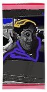 Film Homage Julian Rivero Burn 'em Up Barns 1934 Mascot Serial Collage Screen Capture 2008 Bath Towel