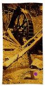 Film Homage Sergei Eisenstein Sutter's Gold 1930 Mining Sluice 1880's-2008 Bath Towel