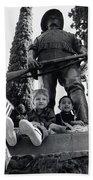 Film Homage Tearing Down The Spanish Flag 1898 Veteran's Day Parade 1984 Armory Park Tucson Bath Towel