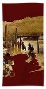 Film Homage The High Chaparral Set Collage Old Tucson Arizona C.1967-2013 Bath Towel