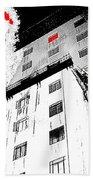 Film Noir Act Of Violence 1949 Pioneer Hotel Fire 1970 Jack Schaeffer Photo Color Added 2012 Bath Towel
