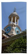 Filoli Garden Clock Tower Bath Towel