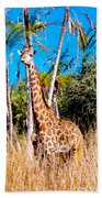 Find The Giraffe Bath Towel