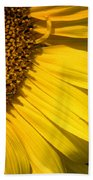 Find The Spider In The Sunflower Bath Towel by Belinda Greb