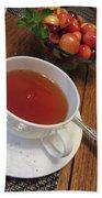 Fine Tea And Cherries Bath Towel