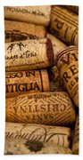 Fine Wine Corks Bath Towel