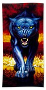 Fire Panther Bath Towel
