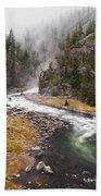 Firehole Canyon - Yellowstone Bath Towel