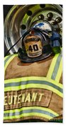 Fireman Turnout Gear Lieutenant Bath Towel