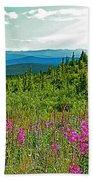 Fireweed Near Top Of The World Highway-alaska Bath Towel