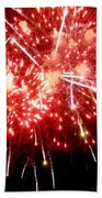Fireworks Display At Niagara Falls Bath Towel