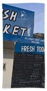Fish Market In Hobart Bath Towel