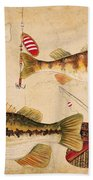 Fish Trio-a Bath Towel by Jean Plout