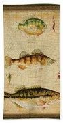 Fish Trio-c-green Bath Towel