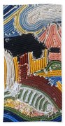 Fishermans Cottages String Collage Bath Towel