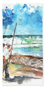 Fishermen In Praia De Mira 02 Bath Towel