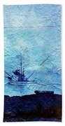 Fishing Boat As A Painting Bath Towel