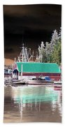Fishing Boat Dock - Ketchican - Alaska - Photopower 02 Bath Towel