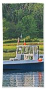 Fishing Boat Cape Neddick Maine Bath Towel