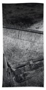Fishing Boat On Shore In Black And White Bath Towel