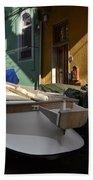 Fishing Boats In Manarola - Cinque Terre Bath Towel