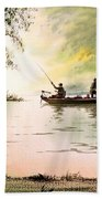 Fishing For Bass - Greenbrier River Bath Towel