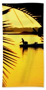Fishing In Gold Hand Towel