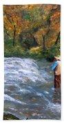 Fishing In The Fall Bath Towel