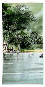 Fishing On Lazy Days - Aucilla River Florida Bath Towel