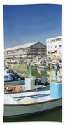 Fishing Port In Jaffa Tel Aviv Israel Bath Towel