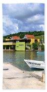 Fishing Village Puerto Rico Bath Towel