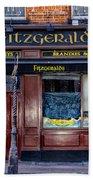 Fitzgeralds Pub - Dublin Ireland Bath Towel